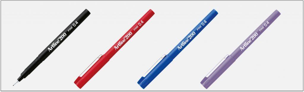 EK-200-bút-lông-kim-Artline-Japan