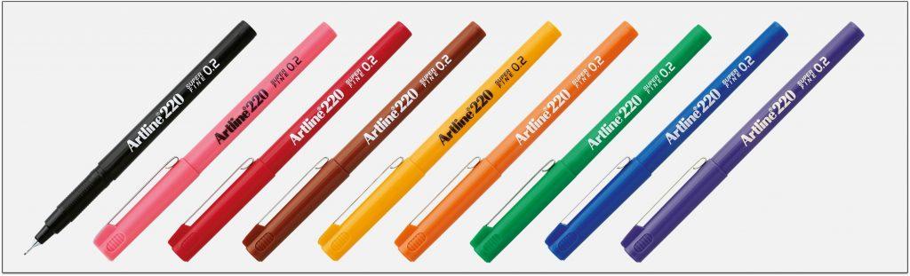 EK-220-bút-lông-kim-nét-nhỏ-Artline-Japan