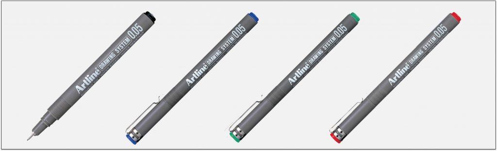 EK-2305-bút-vẽ-kỹ-thuật-không-lem-artline-Japan