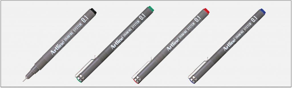 EK-231-bút-vẽ-kỹ-thuật-không-lem-artline-Japan