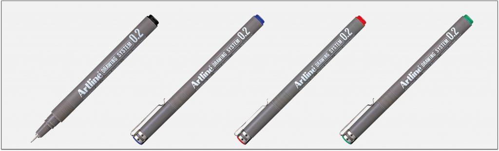 EK-232-bút-vẽ-kỹ-thuật-không-lem-artline-Japan