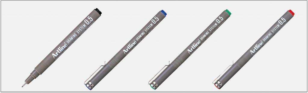 EK-235-bút-vẽ-kỹ-thuật-không-lem-artline-Japan
