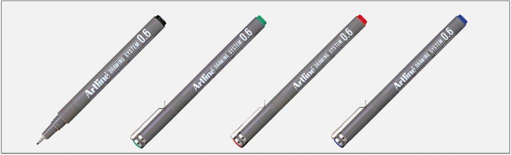 EK-236-bút-vẽ-kỹ-thuật-không-lem-artline-Japan