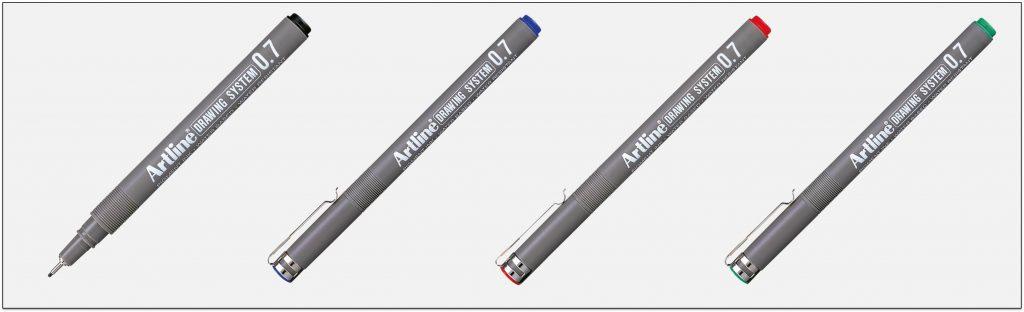 EK-237-bút-vẽ-kỹ-thuật-không-lem-artline-Japan