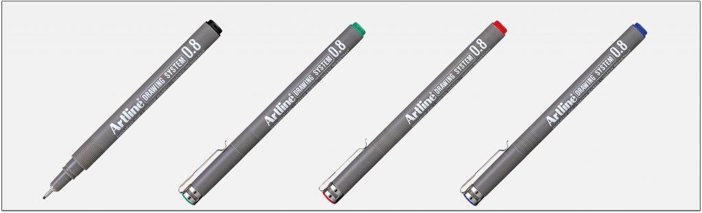 EK-238-bút-vẽ-kỹ-thuật-không-lem-artline-Japan