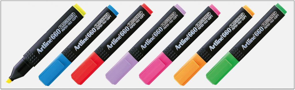 EK-660-bút-dạ-quang-nhiều-màu-artline-Japan