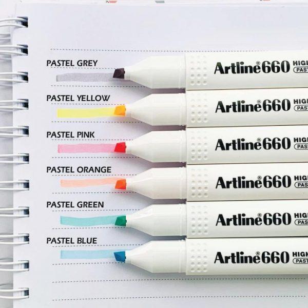 bút dạ quang artline ek-660 pastel